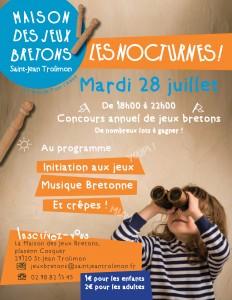 affiche jeux bretons nocturne